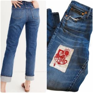 Madewell Customized High Rise Slim Boy Jean 27